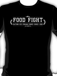 Food Fight - Retro White Clean T-Shirt