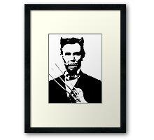 Presidential Men - Abe (The Wolverine) Framed Print
