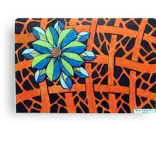 416 - FLORAL DESIGN 14 - DAVE EDWARDS - COLOURED PENCILS - 2015 Canvas Print