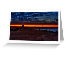 Sunrise at Lake Arcadia! Greeting Card