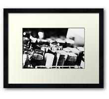 B&W Lipsticks Framed Print