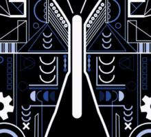Geometric Butterfly Design Sticker