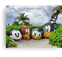 Disney on beach Canvas Print