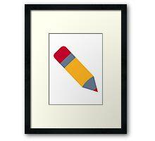 Pencil pen Framed Print