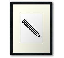 Black pencil Framed Print