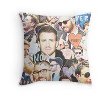 chris evans collage Throw Pillow