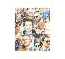 chris evans collage Art Print