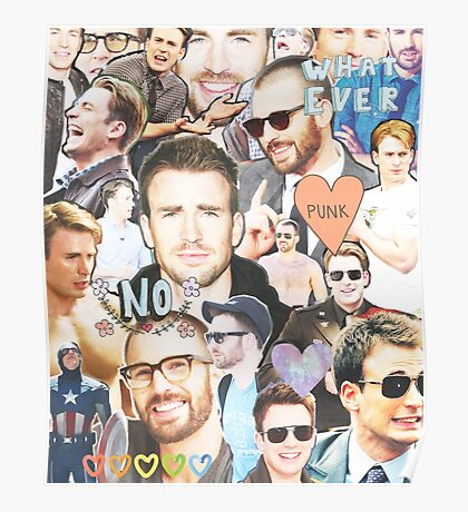 chris evans collage Poster