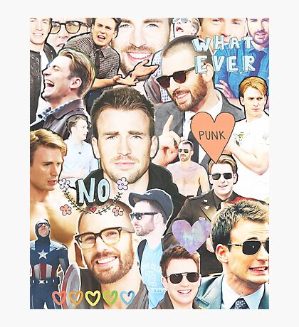 chris evans collage Photographic Print