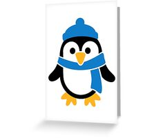 Penguin winter scarf Greeting Card