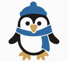 Penguin winter scarf Kids Tee