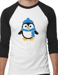 Penguin winter scarf Men's Baseball ¾ T-Shirt