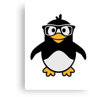 Penguin glasses Canvas Print