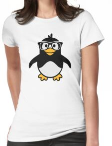 Penguin glasses Womens Fitted T-Shirt