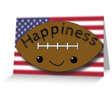 Happiness - Football Greeting Card