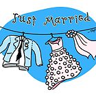 Just Married! Greeting Card by TsipiLevin