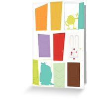 Monsters Inc Greeting Card