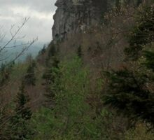 The Face on Grandfather Mountain, North Carolina Sticker