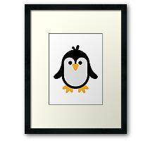 Funny penguin Framed Print