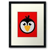 Penguin head Framed Print