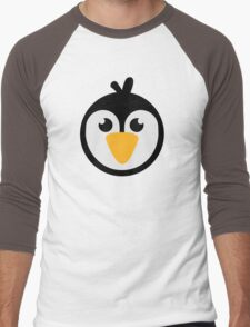 Penguin head Men's Baseball ¾ T-Shirt