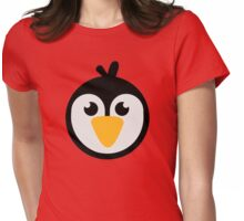 Penguin head Womens Fitted T-Shirt
