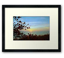Biscayne Sunset Framed Print