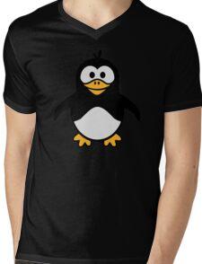 Comic penguin Mens V-Neck T-Shirt