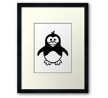 Black penguin Framed Print