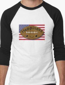 Happiness - Football Men's Baseball ¾ T-Shirt