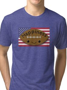 Happiness - Football Tri-blend T-Shirt