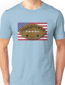 Happiness - Football Unisex T-Shirt