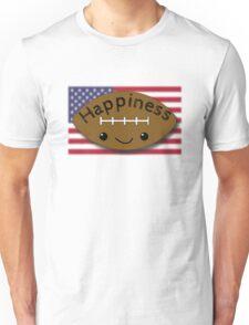 Happiness - Football Unisex T-Shirt
