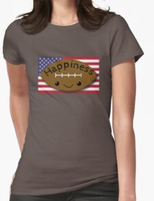 Happiness - Football Womens Fitted T-Shirt