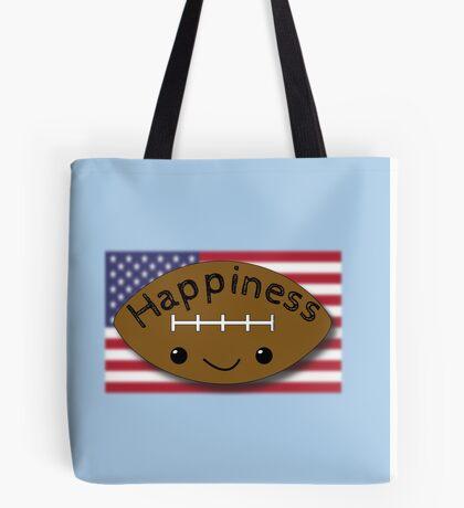 Happiness - Football Tote Bag