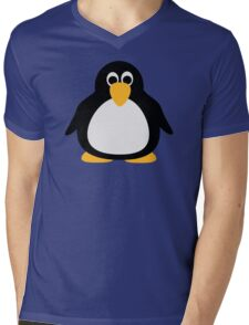 Funny penguin Mens V-Neck T-Shirt