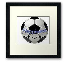 Happiness - Football (soccer) Framed Print