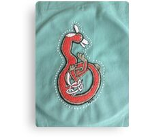 Fox letter  B embroidery  Canvas Print