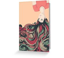 Cascade of Hair Greeting Card