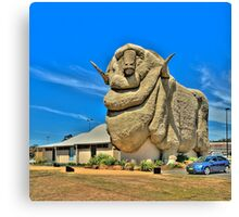 We Grow Our Sheep Big Downunder - The Big Merino Goulburn NSW, The HDR Experience Canvas Print