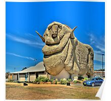 We Grow Our Sheep Big Downunder - The Big Merino Goulburn NSW, The HDR Experience Poster