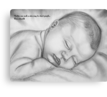 Babies Are Such A Nice Way Canvas Print