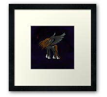 Cursed Wings Framed Print