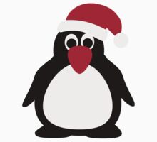Santa penguin Kids Tee