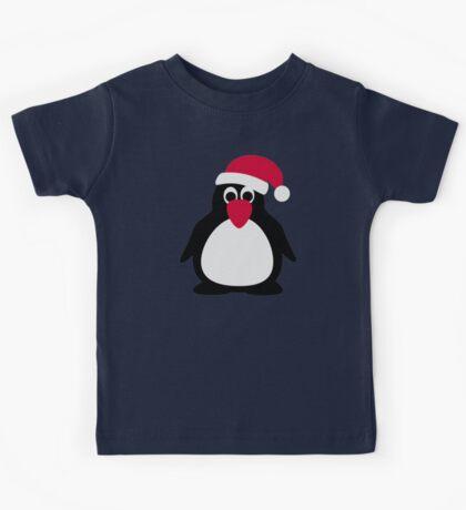 Santa penguin Kids Tee