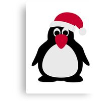 Santa penguin Canvas Print