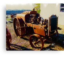 Rusting Old Farm Equipment Canvas Print