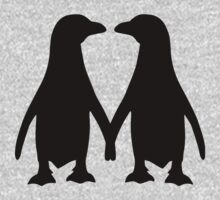 Penguin couple love Baby Tee
