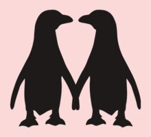 Penguin couple love One Piece - Short Sleeve