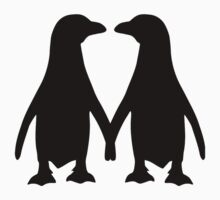 Penguin couple love Kids Clothes